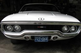 1971 Plymouth Satellite Ontario license licence YOM plates