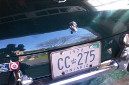 1972 MGB Ontario license licence YOM plates