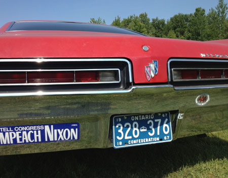 1967 Buick Wildcat Ontario license licence YOM plates