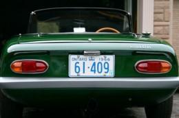 1966 Lotus Elan Ontario license licence YOM plates