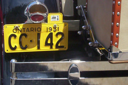 1931 Ford Model A YOM License Plates Ontario