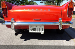 1960 Sunbeam Ontario YOM license plates