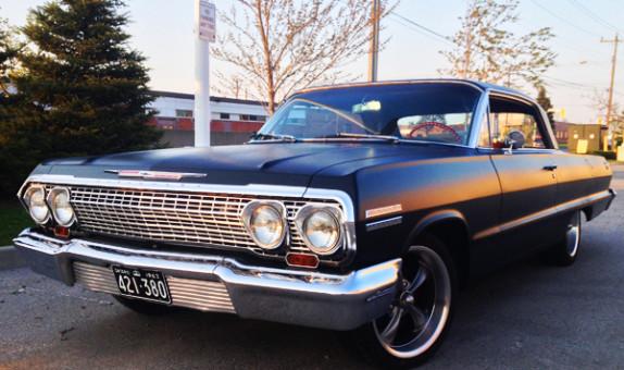 1963 Chevrolet Impala Ontario YOM license plates
