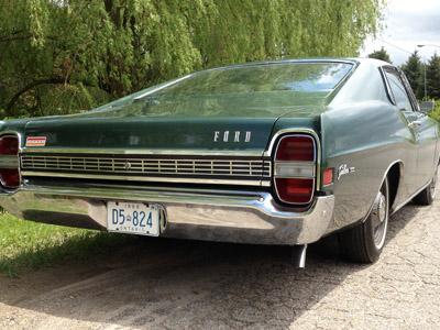 1968 Ford Fairlane Ontario license licence YOM plates