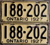 1927 Ontario YOM licence license plates for sale MTO