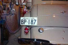 1934 Chevrolet Ontario YOM License Plates