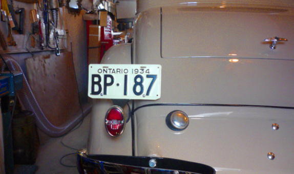 1934 Chevrolet Ontario YOM License Plates