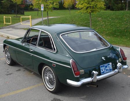 1969 MGB Ontario license licence YOM plates