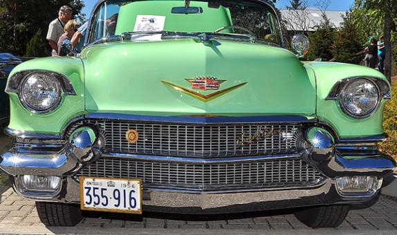 Ontario YOM licence plates 1956 Cadillac