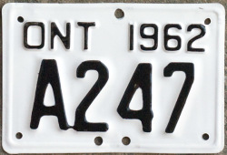 Ontario license licence YOM plates