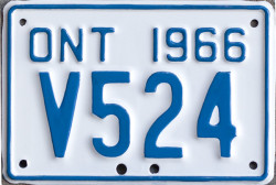 1966 Ontario YOM license plates for sale