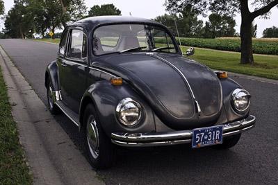 1971 Volkswagen Beetle YOM plates