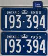 Ontario YOM Plates Sticker Valtag Tab