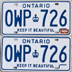 1979 Ontario License Plates for sale