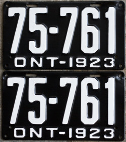 1923 Ontario YOM license plates for sale