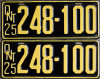 1925 Ontario YOM license plates for sale
