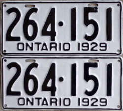 Ontario YOM license plates for sale