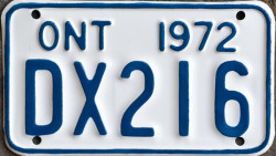 1972 Ontario YOM license plate for sale motorcycle