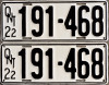 1922 Ontario YOM licence plates for sale