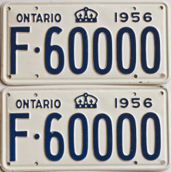 1956 Ontario YOM licence license plates for sale MTO