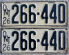 1926 Ontario YOM licence license plates for sale MTO