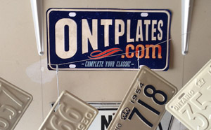 Ontario YOM Licence Plates for sale