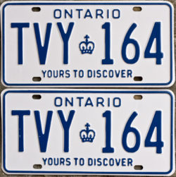 1981 Ontario license plates for sale