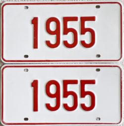 1955 Showroom plates