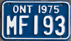 1975 Ontario licence plates for sale