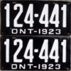 1923 Ontario YOM licence license plates for sale MTO